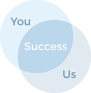 venn diagram you and us intersecting makes success